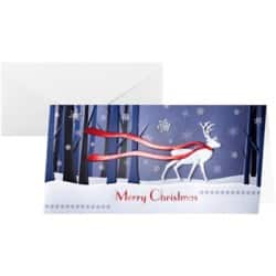 Sigel Christmas Cards and Envelopes Winter's Eve DL 220gsm Assorted 10 pieces