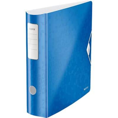 Leitz Lever Arch File 82 mm Polyfoam 2 Rings A4 Metallic Blue