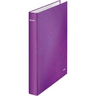 Leitz Ring Binder WOW 2 ring 25 mm Cardboard A4+ Purple