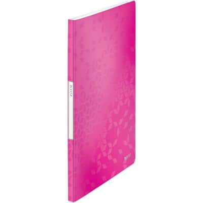 Leitz WOW Display Book A4 Pink 20 Pockets