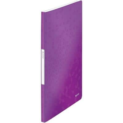 Leitz WOW Display Book A4 Purple 20 Pockets