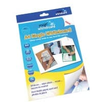 Magic Whiteboard Electrostatic Plain Whiteboard Foils A4 Pack of 20