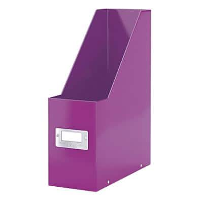 Leitz Click & Store WOW Magazine File Laminated Cardboard Purple 10.3 x 25.3 x 33 cm