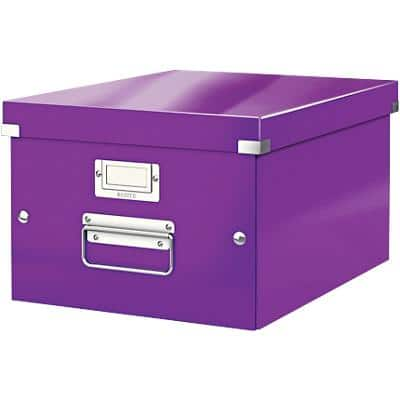 Leitz Click & Store WOW Storage Box A4 Laminated Cardboard Purple 281 x 370 x 200 mm