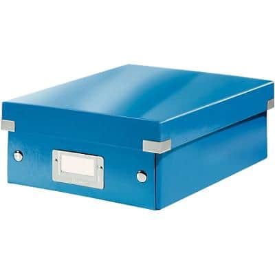 Leitz Click & Store WOW Small Organiser Box Laminated Cardboard Blue 220 x 282 x 100 mm