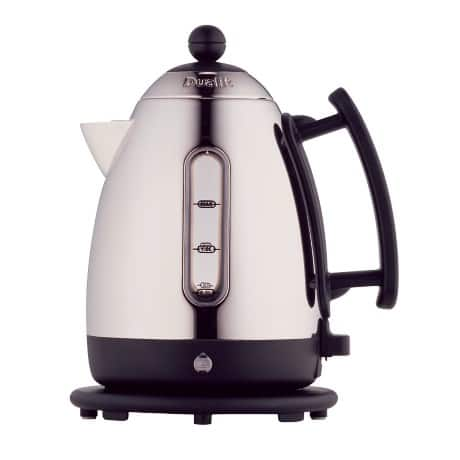 Dualit 1.5 litre stainless steel and black cordless jug kettle