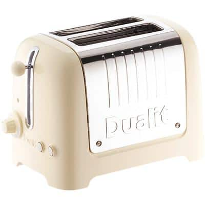 Dualit Toaster 2 Slices Stainless Steel Lite 1100W Gloss Cream