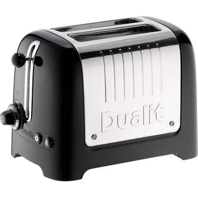 Dualit Toaster 2 Slices Stainless Steel Lite 1100W Black Gloss