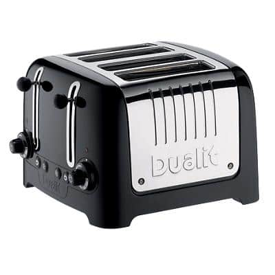 Dualit Toaster 4 Slices Stainless Steel Lite 2000W Black Gloss