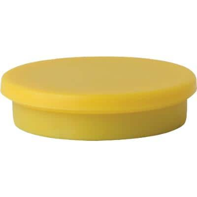 Niceday Whiteboard Magnets 30 mm Yellow 3 x 3 cm Pack of 10