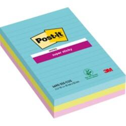 Post-it Super Sticky Notes Miami Assorted Ruled 152 x 101 mm 70gsm 3 pieces of 90 sheets