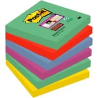 Post-it Super Sticky Notes 76 x 76 mm Marrakesh Assorted Colours 6 Pads of 90 Sheets
