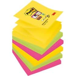 Post-it Sticky Notes R330-6SS-RIO Assorted No 76 x 76 mm 70gsm 6 pieces of 90 sheets