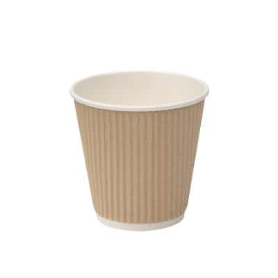 Cups 225 ml Brown 25 Pieces