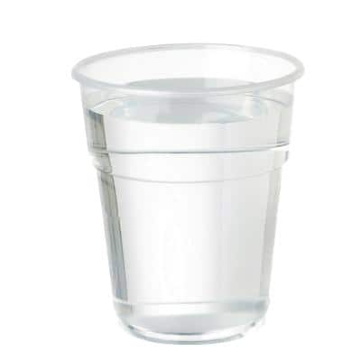 SEM Disposable Cups Plastic 250ml Transparent Pack of 100