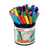 Edding water based fibre pens assorted colours pack 42