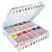 Edding water based bullet nib colour markers assorted colours box 144