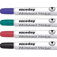 Niceday Whiteboard Marker WBM2.5 Bullet 2.5 mm Assorted 4 Pieces