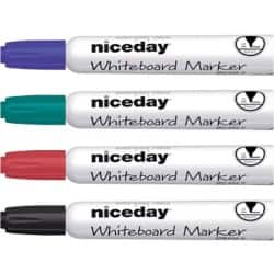 Niceday Whiteboard Marker WBM2.5 Bullet Assorted Pack 4