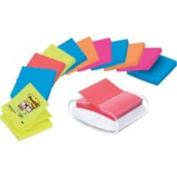 Post-it Z-Note Dispenser PRO-W-12SSCOL-R330 White, Clear 76 x 76 mm 70gsm 12 pieces of 90 sheets