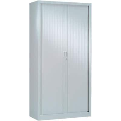 Pierre Henry Tambour Cupboard Lockable with 4 Shelves Steel Generic 1000 x 430 x 1980mm Grey