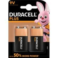 Duracell 9V Alkaline Batteries Plus Power MN1604 6LR61 9V 2 Pieces