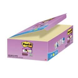 Post-it Super Sticky Notes Yellow 76 x 48 mm 70gsm 24 pieces of 90 sheets