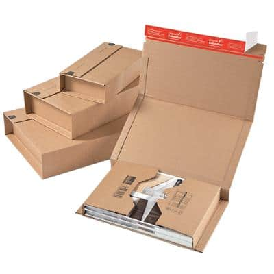 ColomPac Universal Postal Boxes 300 (W) x 100 (D) x 430 (H) mm Brown Pack of 20