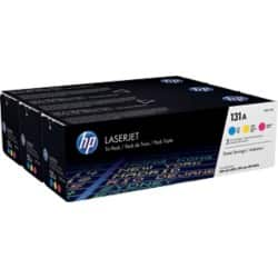 HP 131A Original Toner Cartridge U0SL1AM 3 Colours 3 pieces