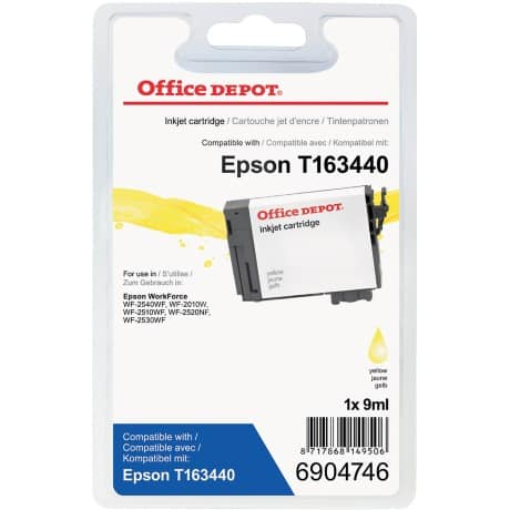 Office Depot Compatible Epson 16XL Ink Cartridge t163440 Yellow