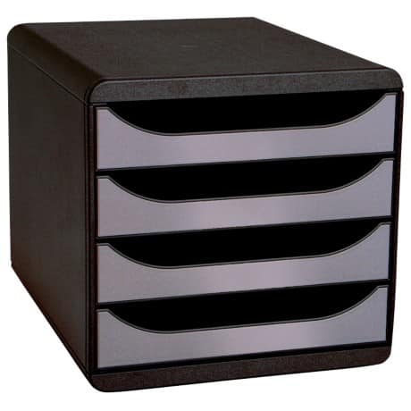 Exacompta System Drawers BIG BOX polystyrene, plastic Black, Silver 26.7 x 27.8 x 34.7 cm