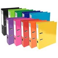 Exacompta Lever Arch File 70 mm Pressboard 2 ring A4 Assorted 10 Pieces