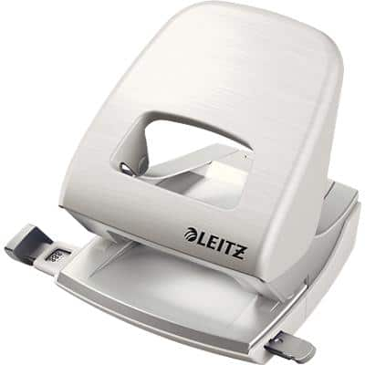Leitz NeXXt Style Metal 2 Hole Punch 5006 30 Sheets Arctic White