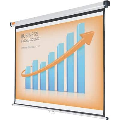 Nobo Wall Mounted Projection Screen 1902393W 200 x 135cm