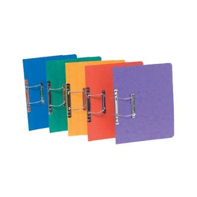 Europa Spiral File 3000 Foolscap Red, Yellow, Green, Blue, Lilac Manilla 25 Pieces