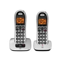 BT BT4000 Twin Cordless Telephone Black, Silver Pack of 2