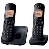 Panasonic Telephone KX-TGC210EB Double Black