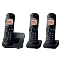 Panasonic KX-TGC213E Cordless Telephone Black Trio Handset