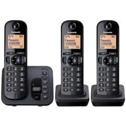 Panasonic KX-TGC220EB digital cordless phone with answering machine – trio
