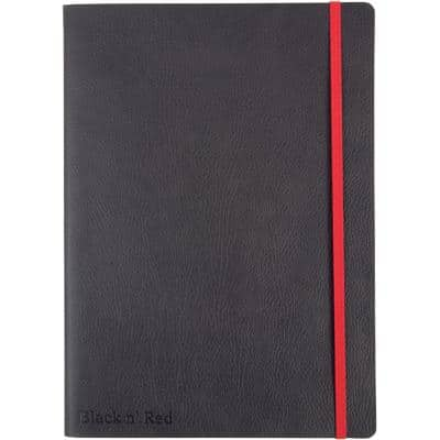 OXFORD Black n' Red B5 Casebound Soft Cover Business Notebook Ruled and Numbered 144 Pages