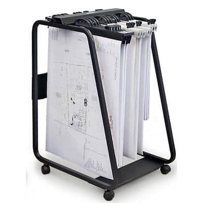 Arnos Filing Trolley Black 550 x 710 x 990 mm