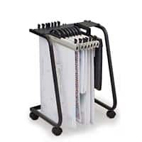Arnos Filing Trolley Hang-A-Plan Black 435 x 410 x 650 mm