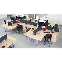 Dams International Desk Screen ES1400S-C Black 1,400 x 400 mm