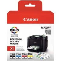 Canon PGI-2500XLBK/C/M/Y Original Ink Cartridge Black & 3 Colours 4 Pieces