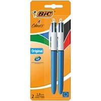 BIC Ballpoint Pen 4 Colours 0.4 mm Assorted 2 Pieces