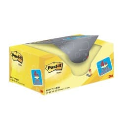 Post-it Sticky Notes Canary Yellow Plain 51 x 38 mm 70gsm 20 pieces of 100 sheets