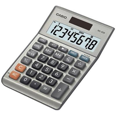 Casio Desktop Calculator MS-80B 8 Digit Display Silver