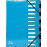 Exacompta Elasticated Folder Iderama A4 Turquoise Pressboard