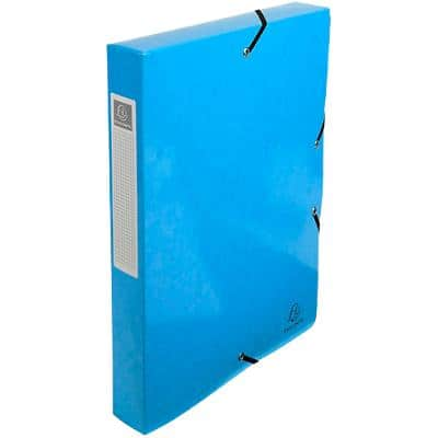 Exacompta Filing Box 59927E Turquoise Glossy Laminated Card 25 x 4 x 33 cm