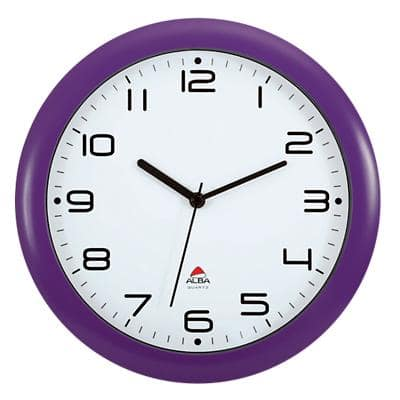 Alba Wall Clock HORNEWP 30 x 5.5 cm Purple